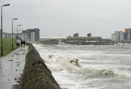Stormy Seaside Path
